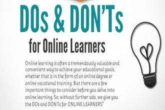 [Infographic] Dos and Don'ts for Online Learners