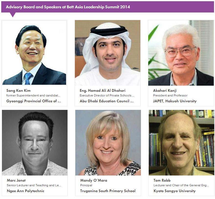 bett asia leadership summit advisory board