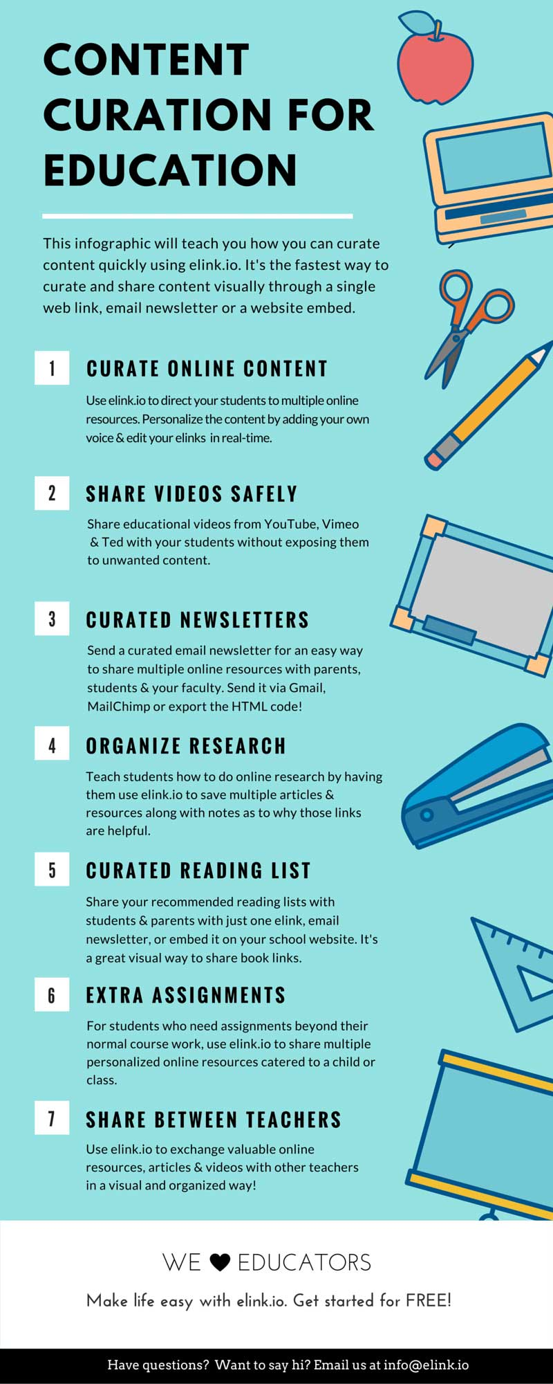 content curation  education infographic