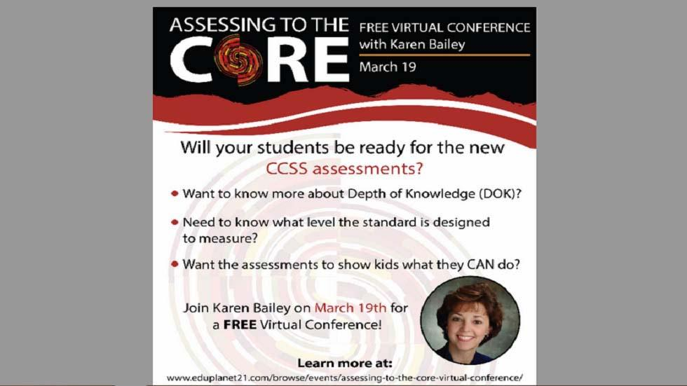 Assessing to the Core: Virtual Conference