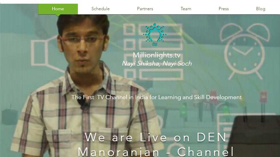 First and Only Indian TV Channel Focused On Higher Education And Skill Development - Launched by Millionlights