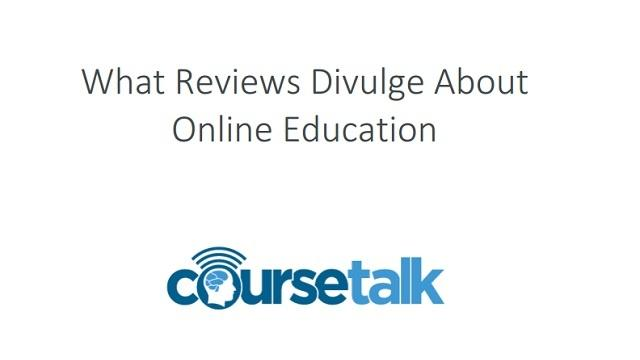[Report] What Reviews Divulge About Online Education