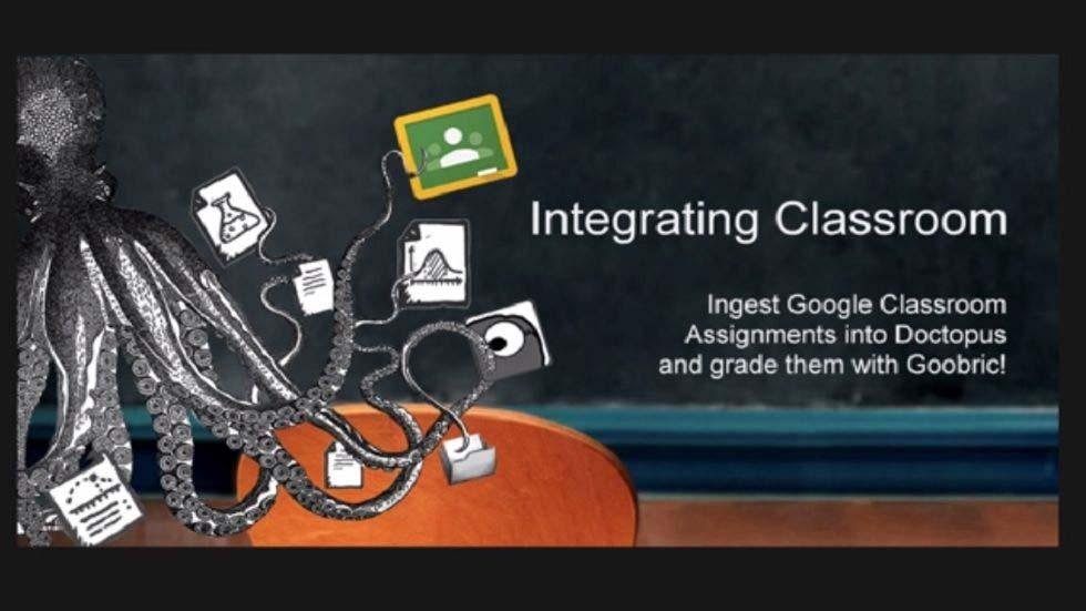 Perfect Integration of Doctopus, Goobric and Classroom for Teachers