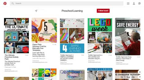 Social Accounts, Channels & Boards to Follow for Pre School Learning