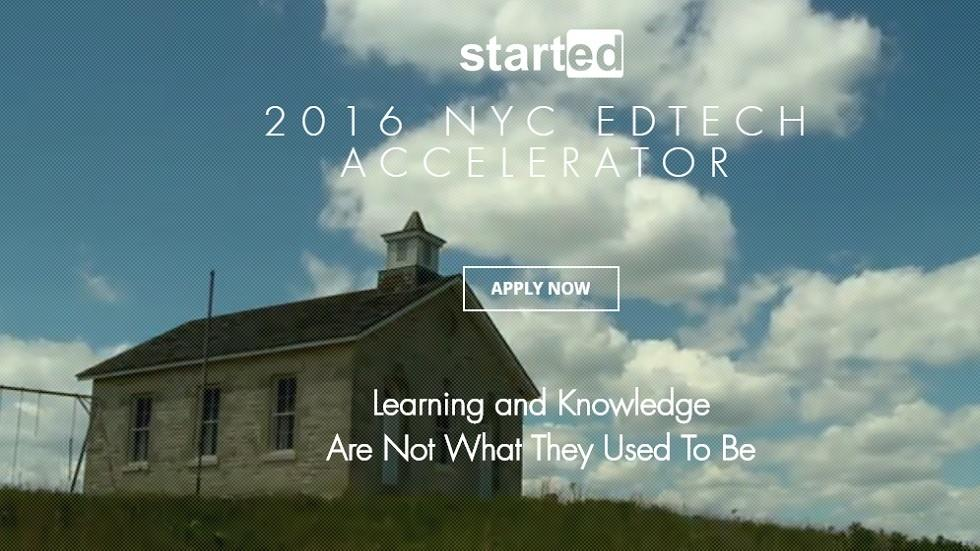 StartEd and NYU Steinhardt Launch NY EdTech Accelerator and Incubator