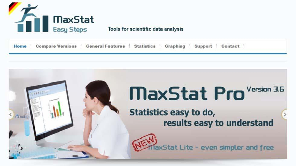 Statistics Easy to Do and Results Easy to Understand with MaxStat Lite