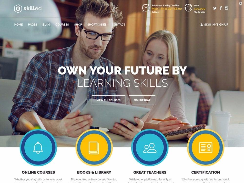4 Neat and Functional WordPress Themes for Online Courses
