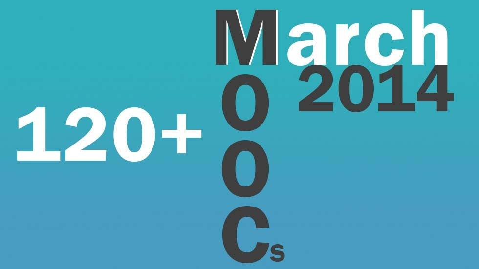 MOOCs in the month of March 2014