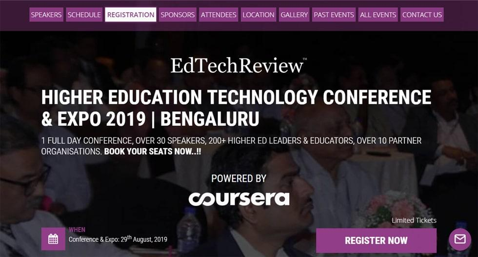 Higher Education Technology Conference & Expo for the Institutions of Bengaluru