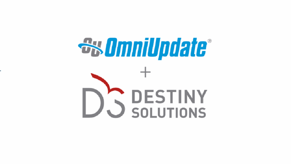 OmniUpdate, Destiny Solutions Merge to Expand Offerings to Higher Education Market