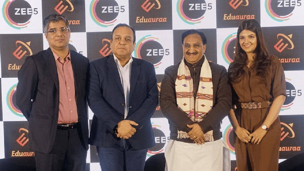 Online Video Streaming Platform ZEE5 Partners with Eduauraa to Offer Educational Content