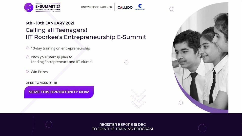 Callido Learning Partners With IIT Roorkee's E-Summit To Launch An Entrepreneurship Challenge For School Students