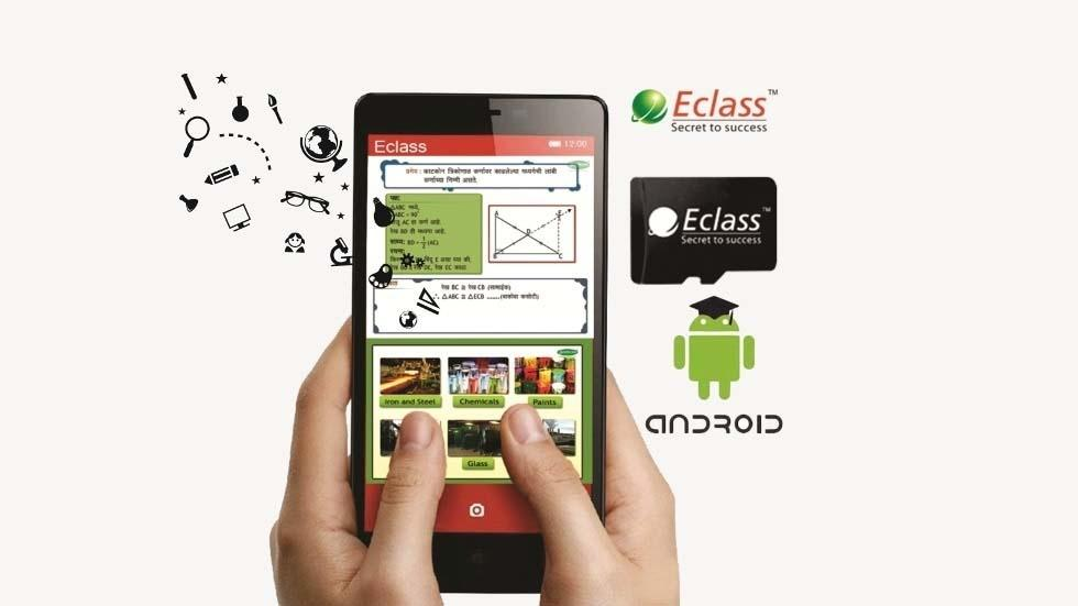 E-Class Education System Limited Launches Educational Content in a Small Memory Card for all Android Phones and Tablets for Digital India