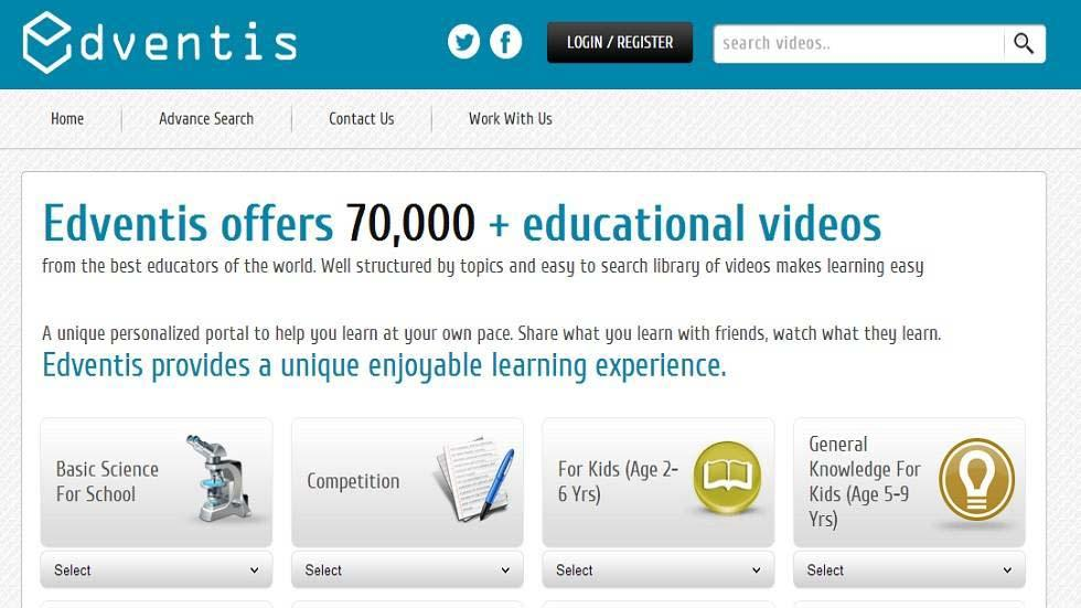 Edventis Brings 70,000+ Educational Videos and More for Students Worldwide