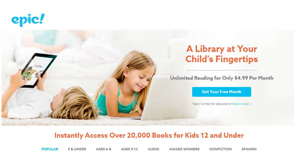 Epic! Explore Unlimited Books for Kids!