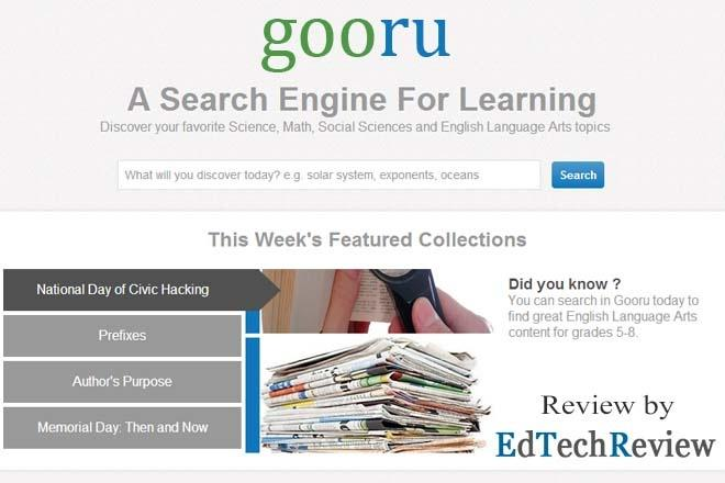 gooru - Free Search Engine for Learning