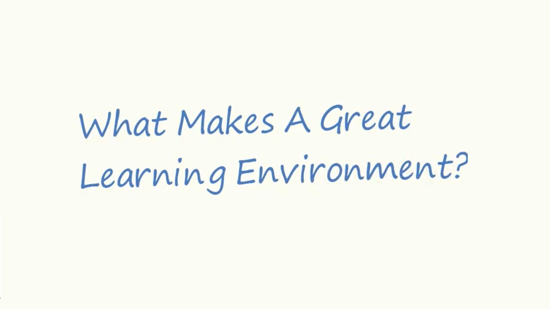 What Is AnIdeal Learning Environment?