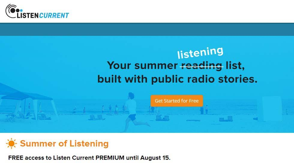 Listen Current Announces FREE Summer Access to Listen Current PREMIUM for all teachers and parents