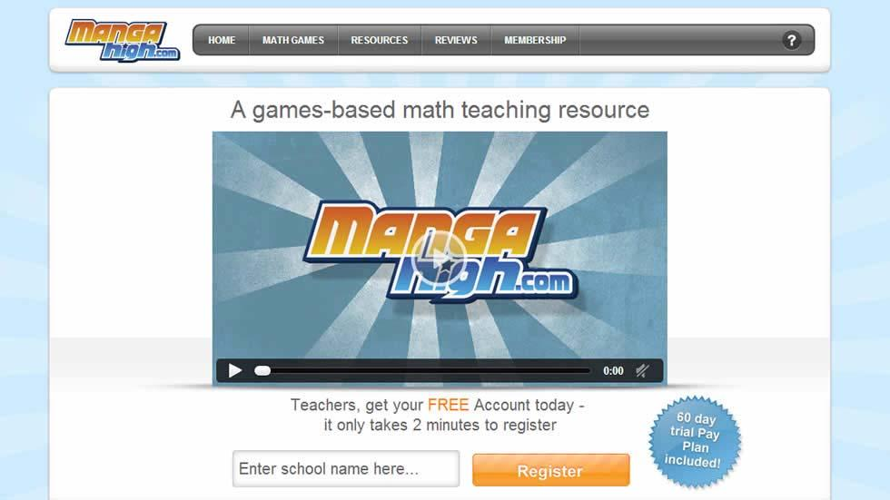 MangaHigh - A Game Based Online Math Learning Platform