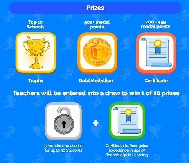 maths challenge prizes