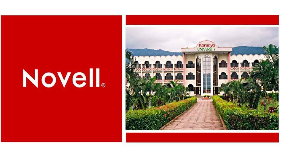Novell offers professional course for the M-Tech program at Karunya University