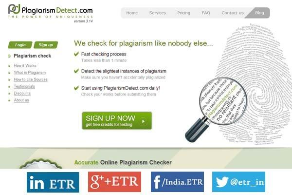 Online Plagiarism Checker by PlagiarismDetect