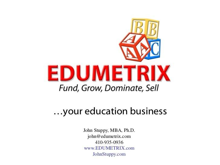 EDUMETRIX - Fund, Grow, Dominate, or Sell your EdTech Startups