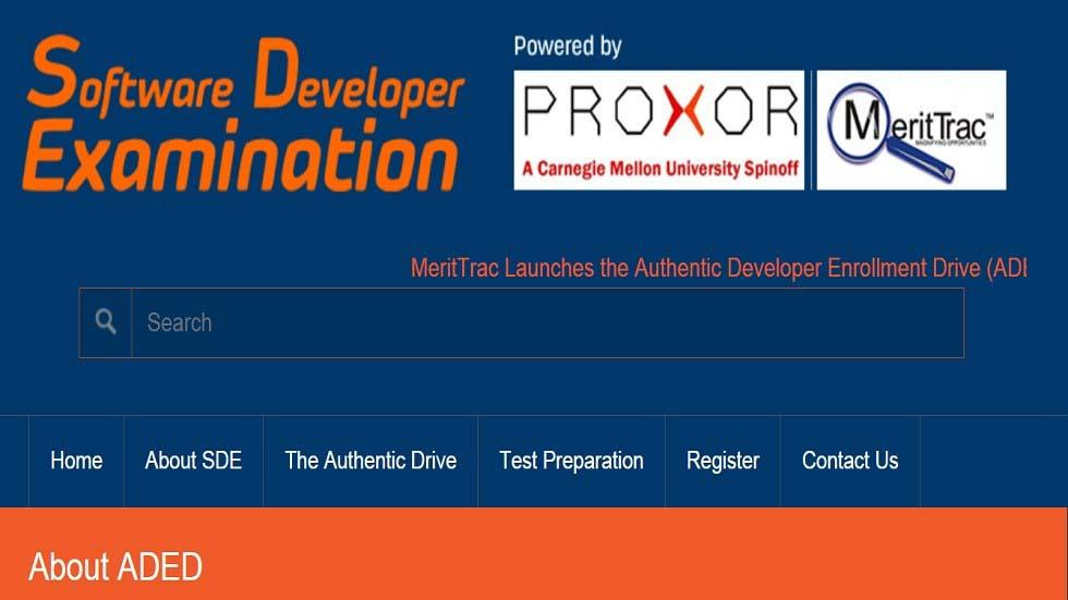 Authentic Developers Enrollment Drive (ADED) – A Software Developer Certification Program by MeritTrac