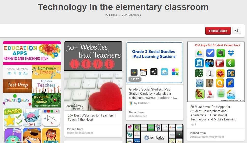 30 Pinterest Boards for Elementary Teachers