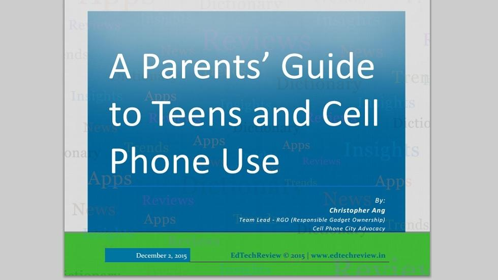 A Parents' Guide to Teens and Cell Phone Use