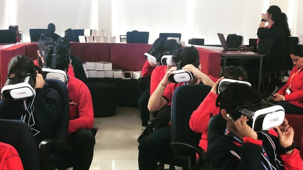 The Ardee Schools, Gurugram and NFC Use VR Box in Classrooms