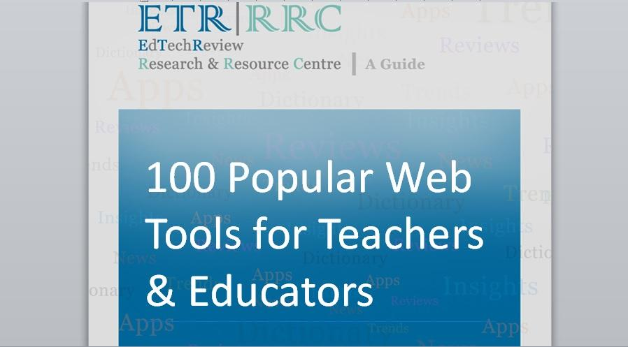 100 Popular Web 2.0 Tools for Teachers and Educators to Explore