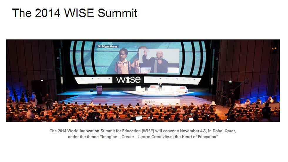 2014 World Innovation Summit for Education (WISE)